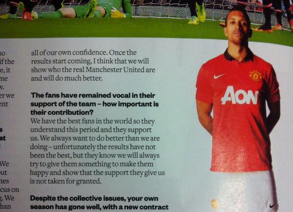 BXkxelFIAAAKoks Dirty Rumour: A Manchester United fan spat at Nani when he signed autographs after the Stoke game