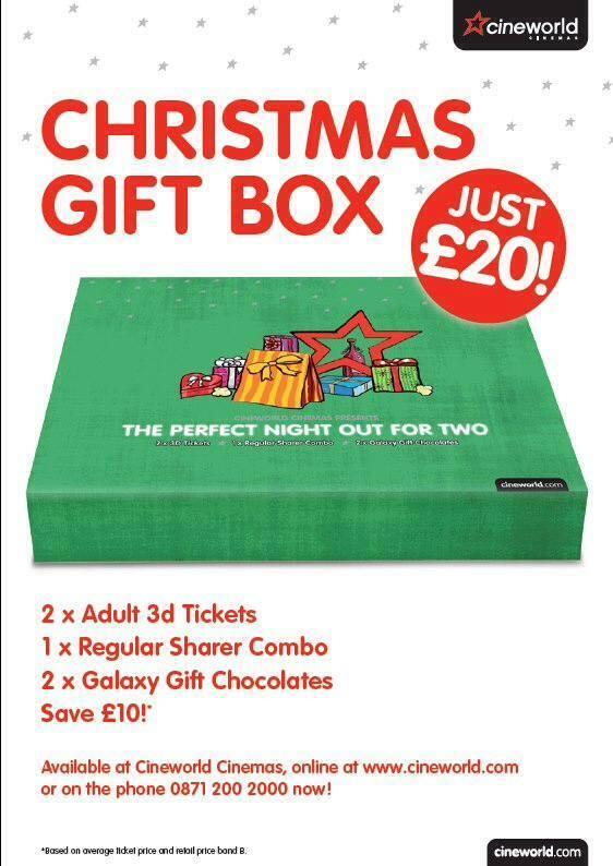 Cineworld BOLTON (@CineworldBolton): Our Christmas Gift Boxes are back, back, back! All you need for a night out at the cinema for just £20. http://t.co/jscLIghT3p #BoltonHour