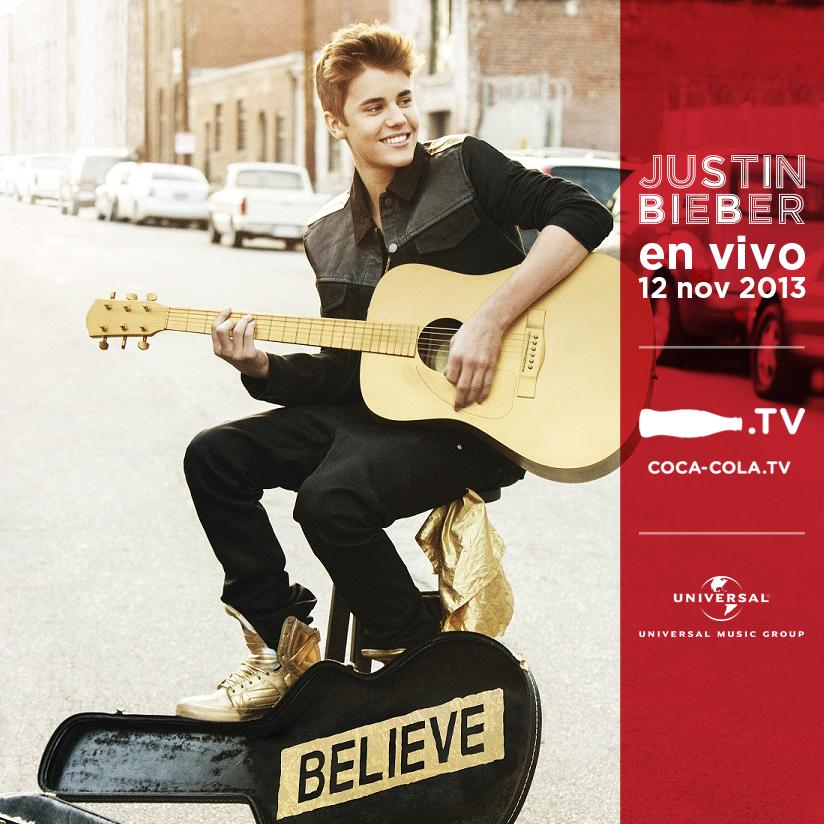 El 12/11/13 transmitiremos en http://t.co/OgiFTWjnGu el concierto de JUSTIN BIEBER en vivo desde Chile #BieberCocaTV http://t.co/mcSDxTNnnV