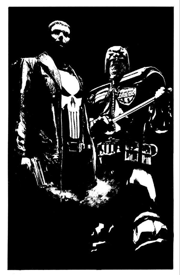 Judge Dredd/Punisher Max commission- http://t.co/8wyDsOE7K7