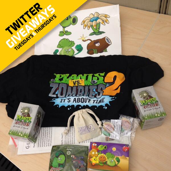 GIVEAWAY: The prizes are coming…RT+Follow for a shot to win this awesome Plants vs. Zombies 2 prize pack! CC: @popcap http://t.co/UidErI2l1d
