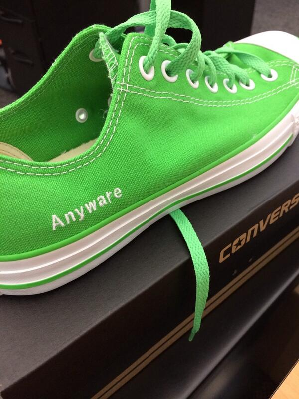 Sweet! @GoAnyware chucks are here http://t.co/6bvsK2PnEG
