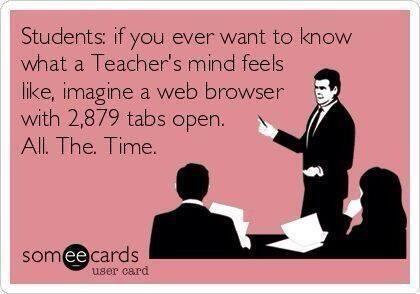 So true! Ts multitask at a whole diff. level! RT @ClareTomlinson: Best representation of a teacher's mind!! #edchat http://t.co/oCbplytR7r