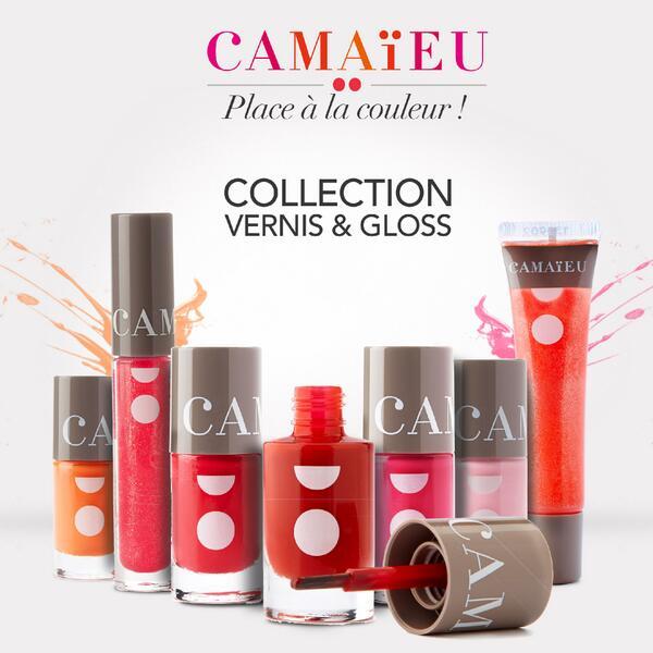 Camaieu lance sa collection de vernis & gloss ! A retrouver sur le site et bientôt en magasins http://t.co/rkng7UFvEf http://t.co/ejgrhEFelu