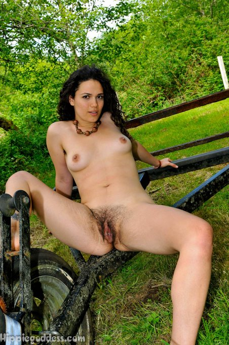 #hairybush, #hairyarmpits, uninhibited goddess outdoors.  Brittania is amazing. From an update this week