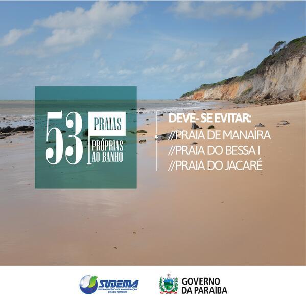 Banhistas podem aproveitar 53 praias do litoral paraibano no feriado http://t.co/u2CBKTGWWP #Govparaiba #sudema http://t.co/ToSgdXCSrk