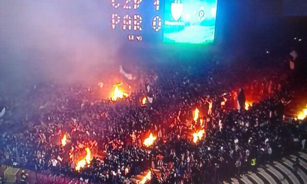 BYFkl7SCQAA7bM6 Bonfire night in the stadium as fires burned during Red Star Belgrade 1   Partizan Belgrade 0 [Video & Pictures]