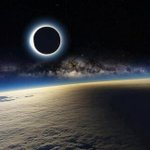 RT @johnchege: Solar Eclipse and Milky Way seen from ISS (International Space Station) http://t.co/yQ8jnn47Km