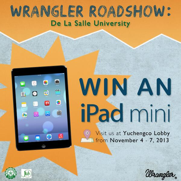 We're starting the first leg of our school tour at @DLSUManila. iPad Mini up for grabs! RT if you want one! http://t.co/dtxlIWjPX0