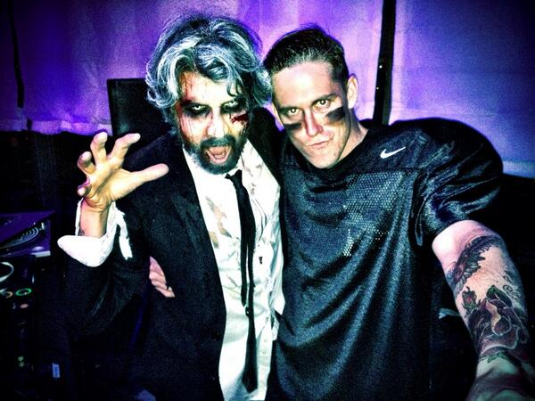 Mess with this DJ team at your damn peril @Ackersboy #sohohouse #Halloween http://t.co/GlduH0LYCL