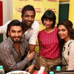 The photo after the Masti and pagalpan ;) @RanveerOfficial @deepikapadukone @RadioSuren @MeeMeera http://t.co/pPUc27ZKax
