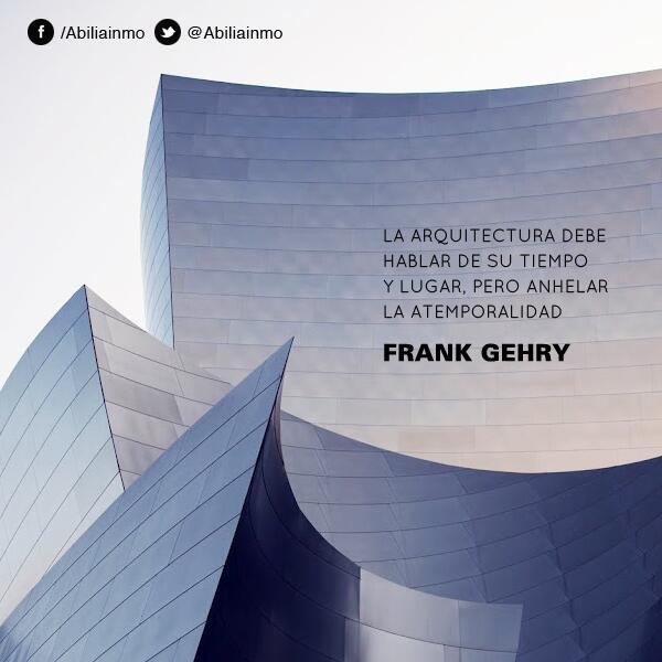 """RT @AbiliaInmo: """"La #arquitectura debe hablar de su tiempo y lugar, pero anhelar la atemporalidad"""" - Frank Gehry http://t.co/WVf4V6xZzf"""