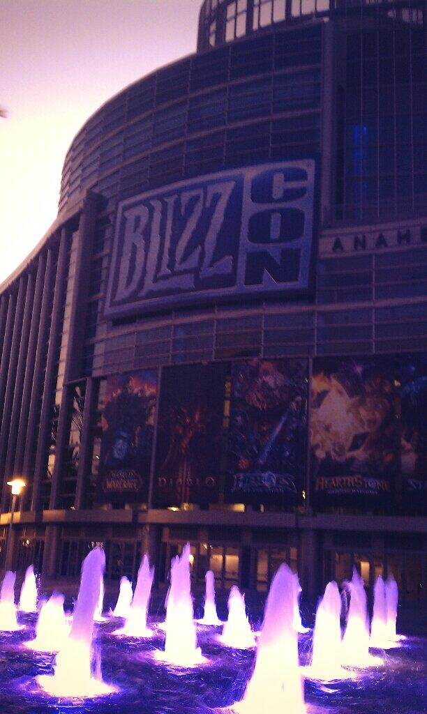 The Anaheim Convention Center, home of Blizzcon and blue water fire.