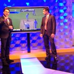 A still from the first show..the second goes on air at 10.30pm. Star Sports 3. This time focus will be on Tendulkar! http://t.co/4jPY0StfZN