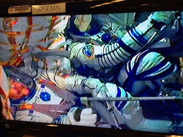 """@AstroIronMike: Launch in 5 mins.   Crew says they feel great.  Here is what it looks like in Soyuz capsule. http://t.co/GVHx7rOEbe""rt"