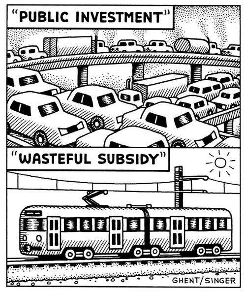 """""""Public investment"""" vs """"wasteful subsidy"""" http://t.co/cbtWSza7VD via @StreetsblogNet"""""""