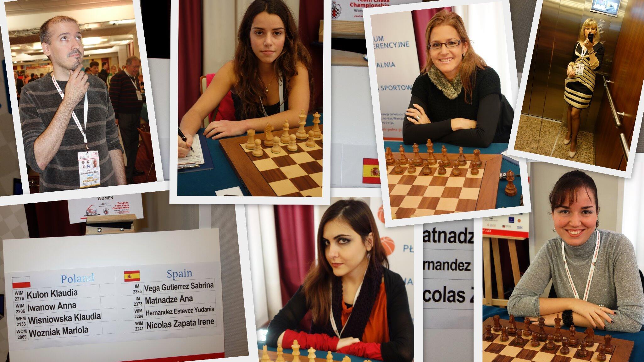 RT @chessolja: Nuestro equipo femenino en Varsovia: Sabrina Vega, Ana Matnadze, Yudania Hernández, Irene Nicolás y David Martínez. http://t.co/OV4jmjBUqv