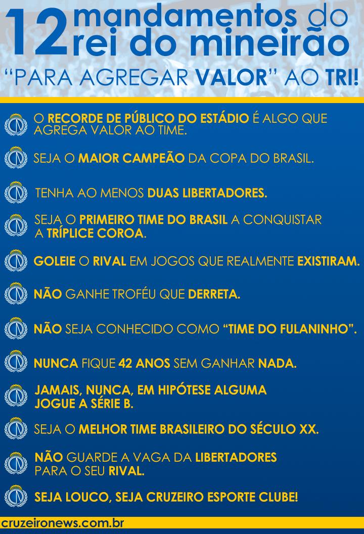 OS 12 MANDAMENTOS DO REI DO MINEIRÃO! http://t.co/WiIisVZFBv