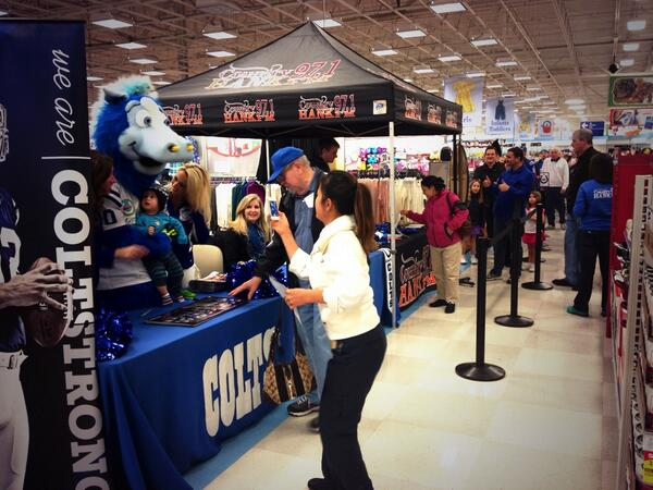 It's a full house @meijer for #BlueFriday! Lots of tickets left to win! @nflcoltscheer @BlueColtsMascot @HankFM http://t.co/ssFdtDcHYf