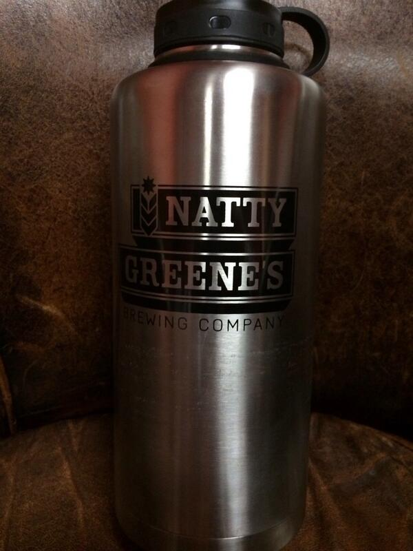 #GIVEAWAY ends Monday. Must #FOLLOW & #RETWEET this 4 a chance to win a shiny growler. #nattygreenes http://t.co/nt43yEzcNR