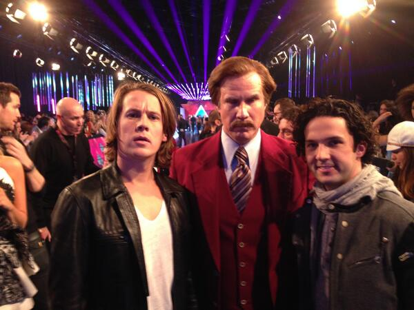 Hanging out with @RonBurgundy at the @mtvema! http://t.co/HDShn1e6NE