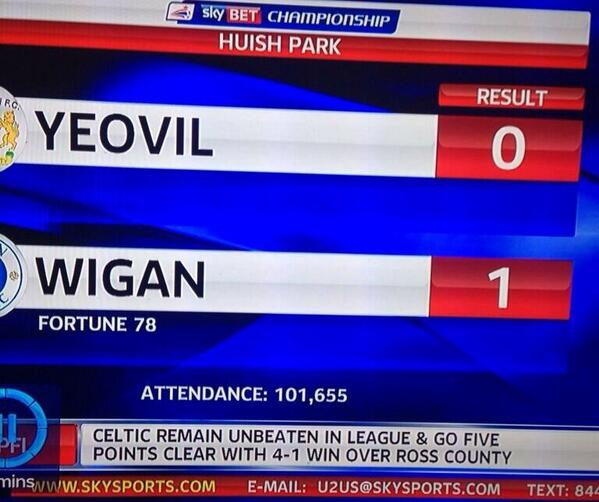 BYuiR 9IEAAuqF8 Wow! There was a ridiculously huge crowd at Yeovil v Wigan, apparently
