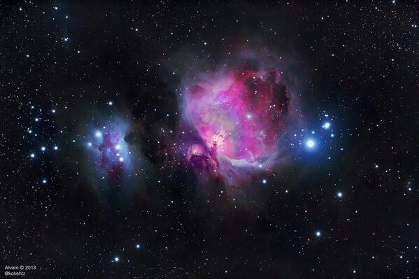 RT @kokehtz: @El_Universo_Hoy M42, la Nebulosa de Orión. Una de las zonas mas bonitas del cielo. http://t.co/yepAfX8BhT