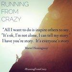RT @AustenRiggs: #RunningFromCrazy #Hemingway @MarielHemingway @RunningFromCrzy