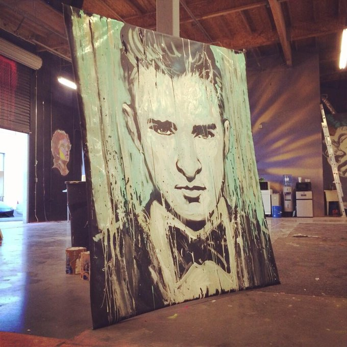"""@garibaldiarts: @jtimberlake by @garibaldiarts #portrait #art #painting http://t.co/w86vnug0oq"" I'm SO late on this one but SICK JOB!"