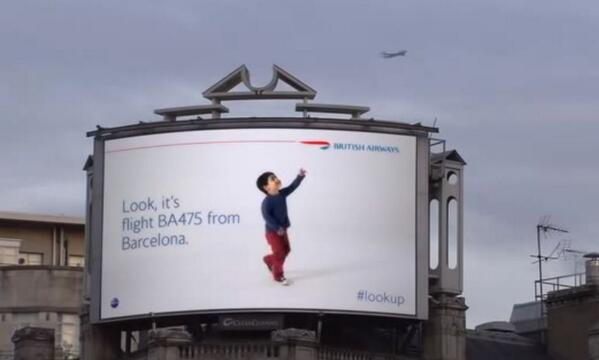 Clever British Airways Billboard Tracks Airplanes as They Fly Overhead http://t.co/63LuylfiUC http://t.co/OCybq0XETF
