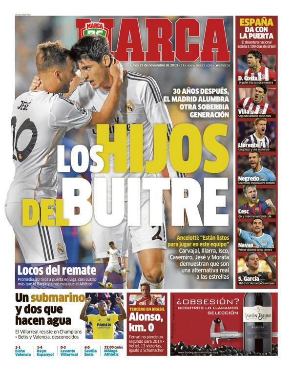 #LaPortada 'Los hijos del Buitre' http://t.co/tZGPh6JrTf
