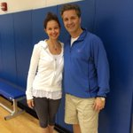 Look who stopped by practice today. Great to see Ashley. She's going to give me her critique of the team later. http://t.co/lgMFzkQOzj