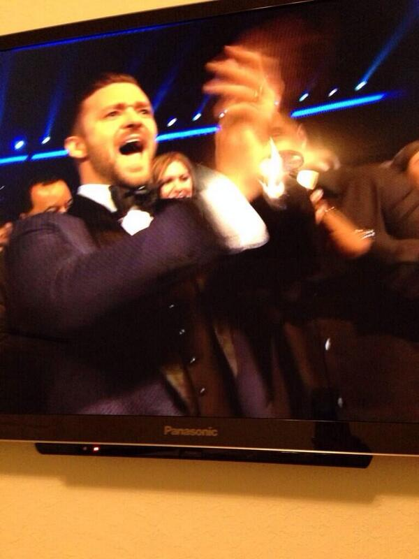 This was @jtimberlake after the @JLo performance just like me