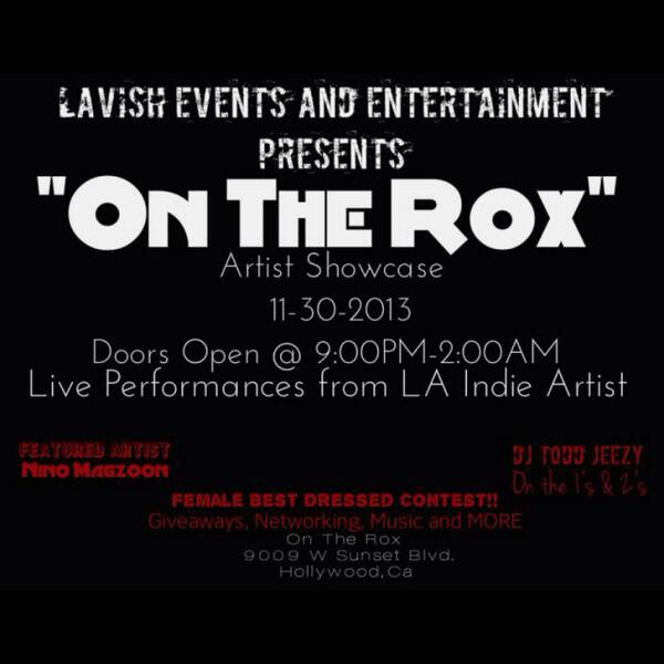 """ON THE ROX ARTIST SHOWCASE"" November 30 performances by @RyanGotThaJuice @ParisSaintLeBer  @DemarioSBmusic http://t.co/lFBATfn50T"