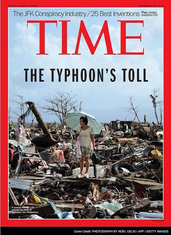 RT @AFPphoto: Photo by Noel Celis of woman standing amid debris in devastated #Tacloban makes the cover of @TIME http://t.co/rhjQsJlUnJ