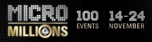 Tiny buy-ins, big prizepools: #MicroMillions VI starts at 12:00ET today! http://t.co/pGw005LDp9