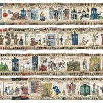 This rad tapestry illustrates a millennium of Doctor Who history. Amazing. http://t.co/TBtQT71xlt http://t.co/d5aYLde4Dw