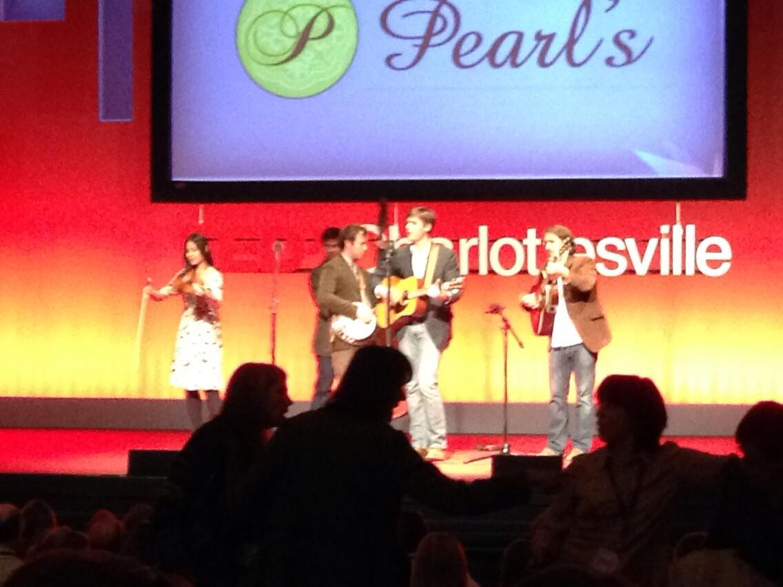 Opening @TEDxC_Ville with some bluegrass. Excellent. http://t.co/juU3RCkYoi
