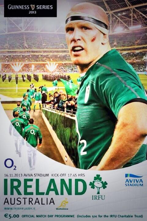 Get your match programme tomorrow. Or Paulie might get mad! :-) #IRLvAUS http://t.co/1foUeF87jM
