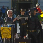 RT @nbcnightlynews: PHOTO: #SFBatKid presented with the key to 'Gotham City' http://t.co/bo4OKkarxp