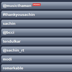 RT @sahithkrishna: @MusicThaman u just topped the trends beating,,, SRT, Federer :D http://t.co/e94vEZejHy