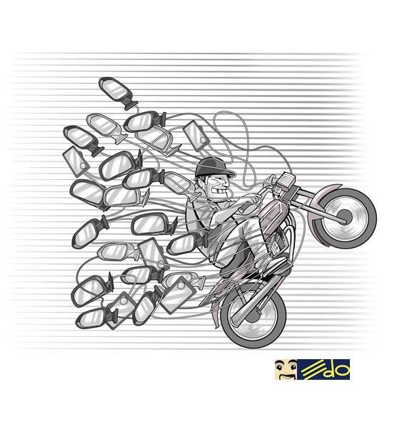 #caricatura EDO #Asíeslavía @FundaSegCaracas: Motorizado y espejo http://t.co/kBUsV8lnqL