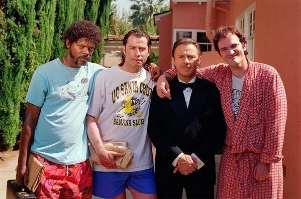 Pulp Fiction set photo http://t.co/xuD9RyjEa0