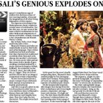 RT @RanveerOfficial: Bhansali's genious explodes on screen! http://t.co/UBOdVnl5KS