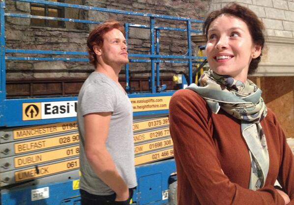 "Sam Heughan (@Heughan): ""@RonDMoore: 9/23/13  - a special day Sam & Caitriona see sets for the first time. http://t.co/abeLd5Pqz4""  The Story begins to be real..."