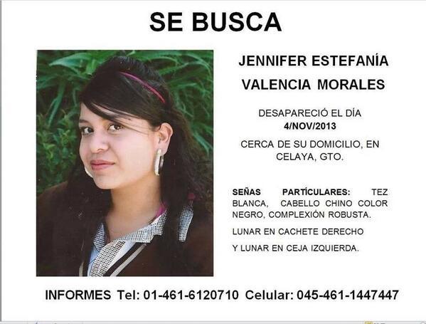 Vaitiare Mateos Bear (@vaitiaremateos): Ayúdenos a encontrar a Jennifer, por favor RT http://t.co/JYMmSW4Buj