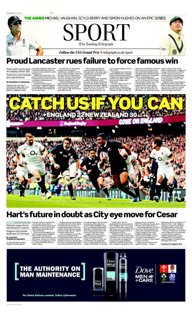 Hart out? Englands #1 on the chopping block as Man City set to sign QPRs Cesar in January [Sunday Telegraph]