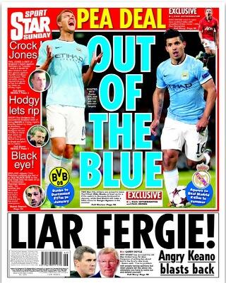 Borussia Dortmund want Edin Dzeko while Real Madrid target Sergio Aguero [Sunday Star]