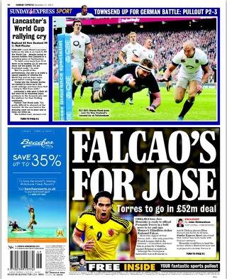 Jose Mourinho wants to bring Falcao to Chelsea for £52m [Sunday Express]