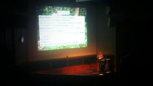 Expedition research covered by Mark Mulligan at #Explore2013 - inspiring budding field scientists. #conservation